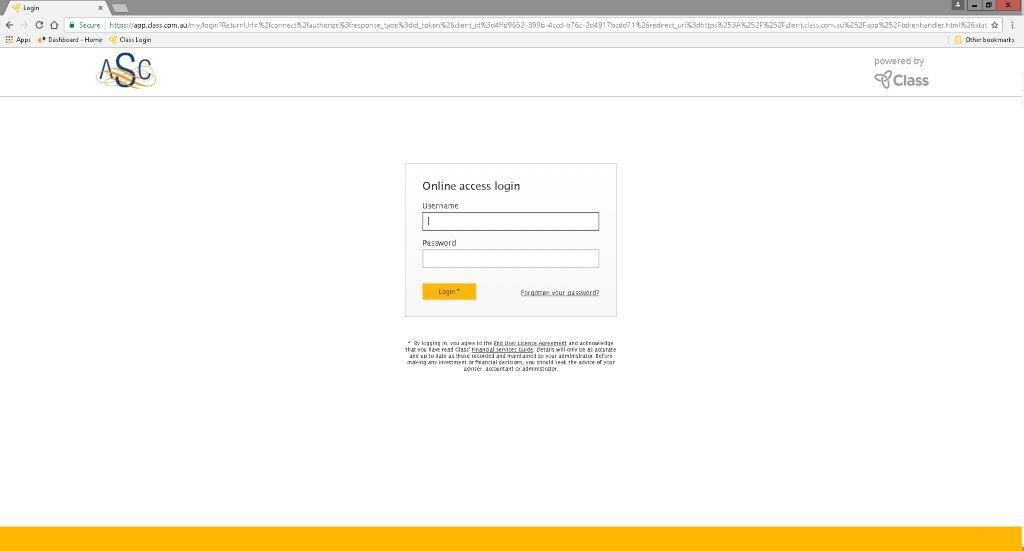 ASC Portal Login